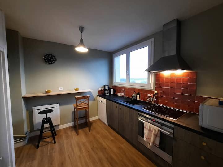 appartement 70m² 3 chambres avec 3 lits 2 places