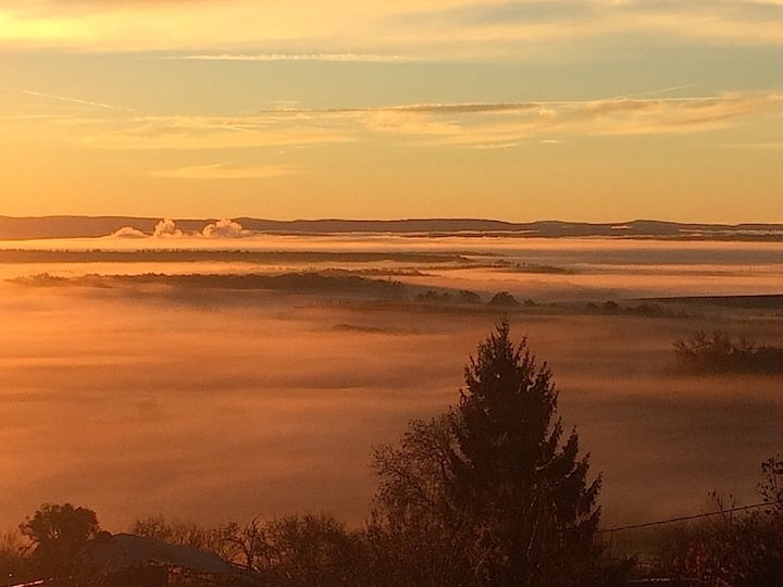 Panorama sur la chaîne des Vosges