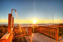 Rinsing station at sunset!