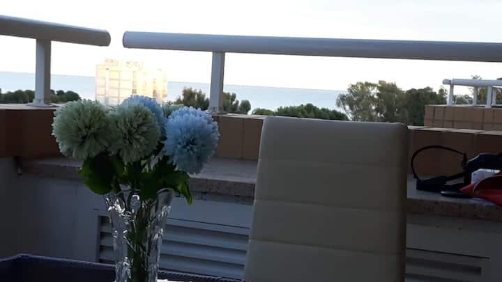 Costa Azahar , 2da linea   con vista  al mar