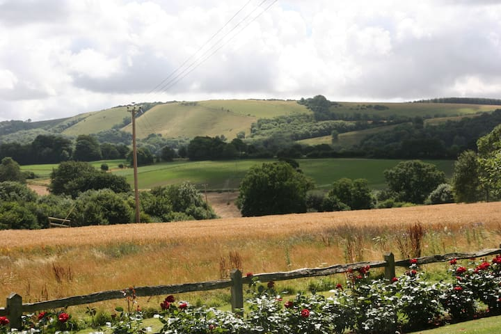 Minutes from the South downs with its wonderful walks