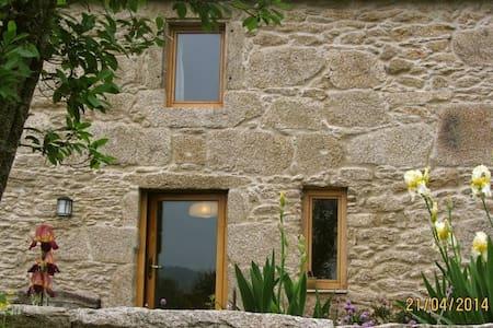 casa de piedra con gran terreno - Tui - Maison