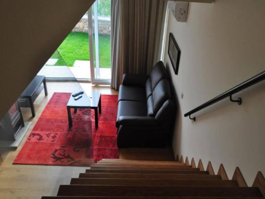 Escada/sala estar