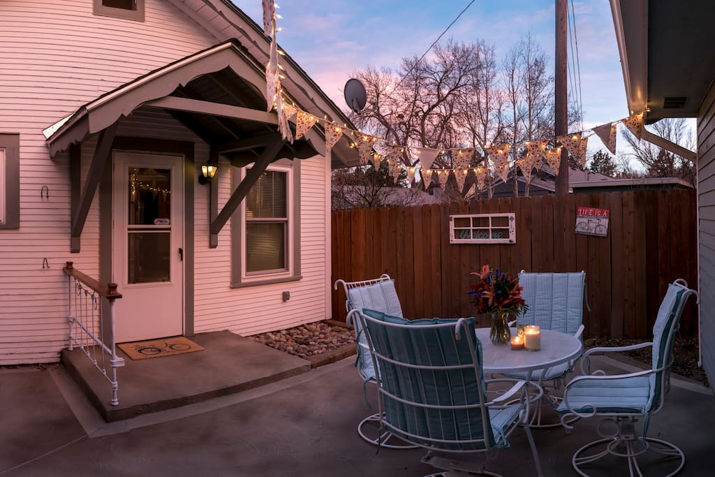 Imagine breakfast or a cool Colorado evening in your private patio.