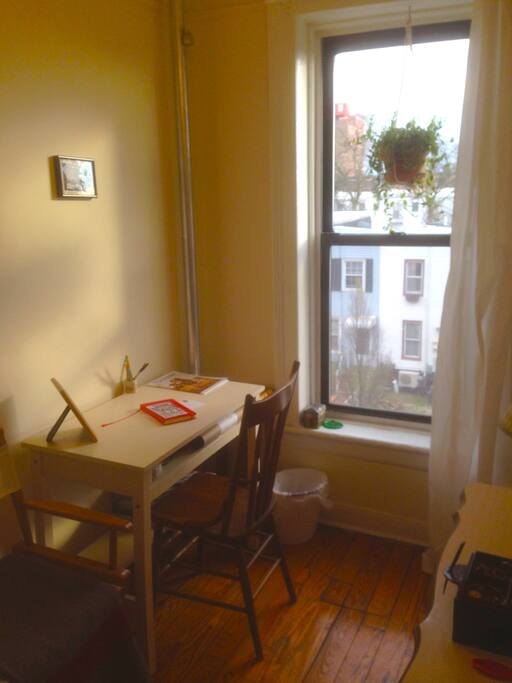 An office next to the bedroom offers a nice, quiet place to relax or write.