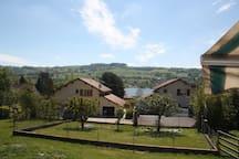 Vue de la terrasse du gite