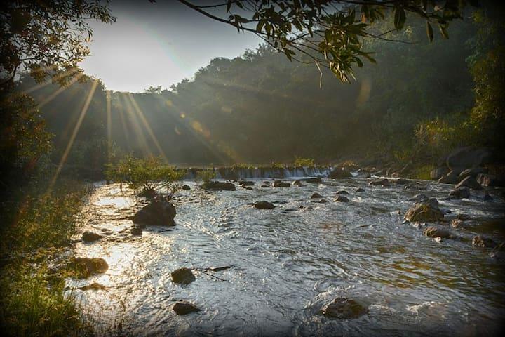 Pristine clear water river