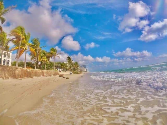 Golden Beach steps away from the resort