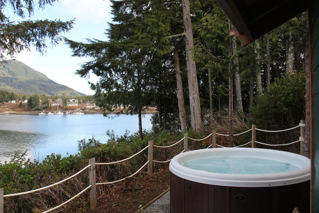 Hot tub and view to the right