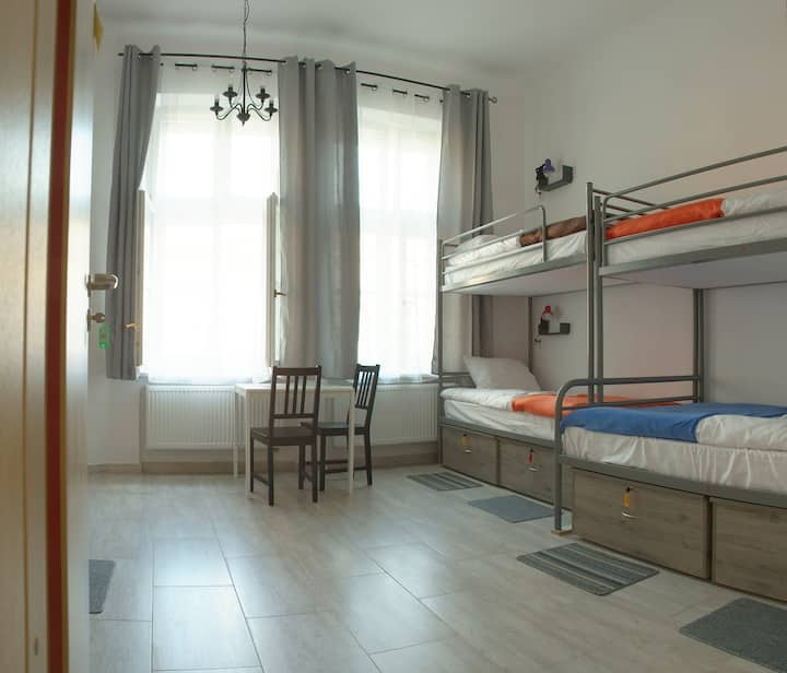 Bed in a 7-bed room Hostel Lwowska
