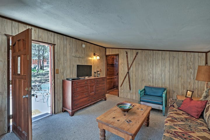 This warm and cozy interior offers 1 bedroom, 1 bath, and room for 4.
