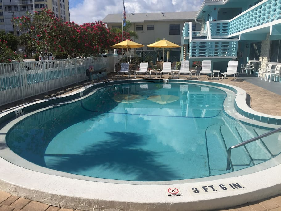 Swim in our heated pool...