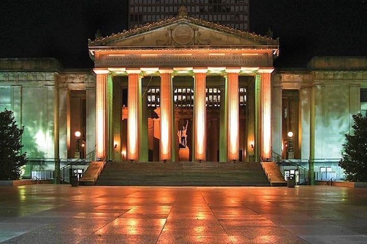 War Memorial Auditorium! Just a few blocks away!