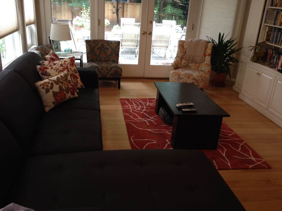 The Secondary Living Area has plenty of room to curl up and snooze on the couch.