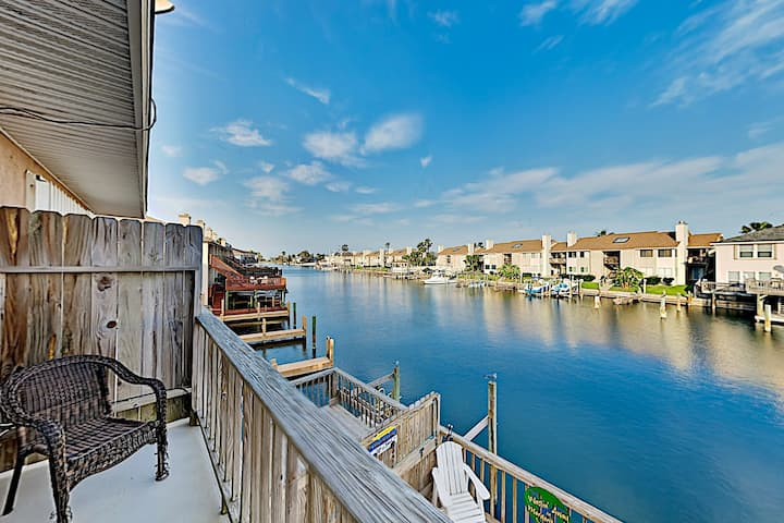 Canal-Front Retreat with Boat Slip | Near Beach