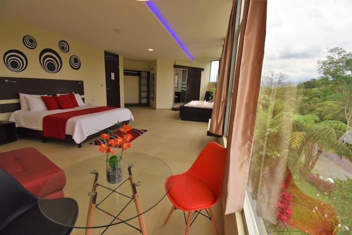 Suites con vista a la Amazonia.