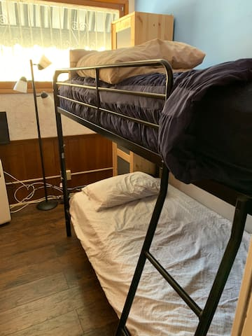 Small room with Bunk beds for 2 guests