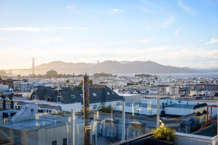 Amazing views from bdrm & roof deck - San Francisco - Pis