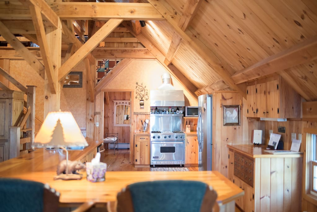 post and beam lakefront home with private beach houses