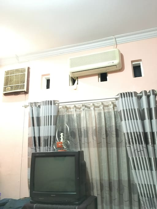 TV, air conditioner, fan (ex/in house)