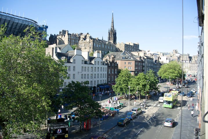 View of the Grassmarket from the apartment