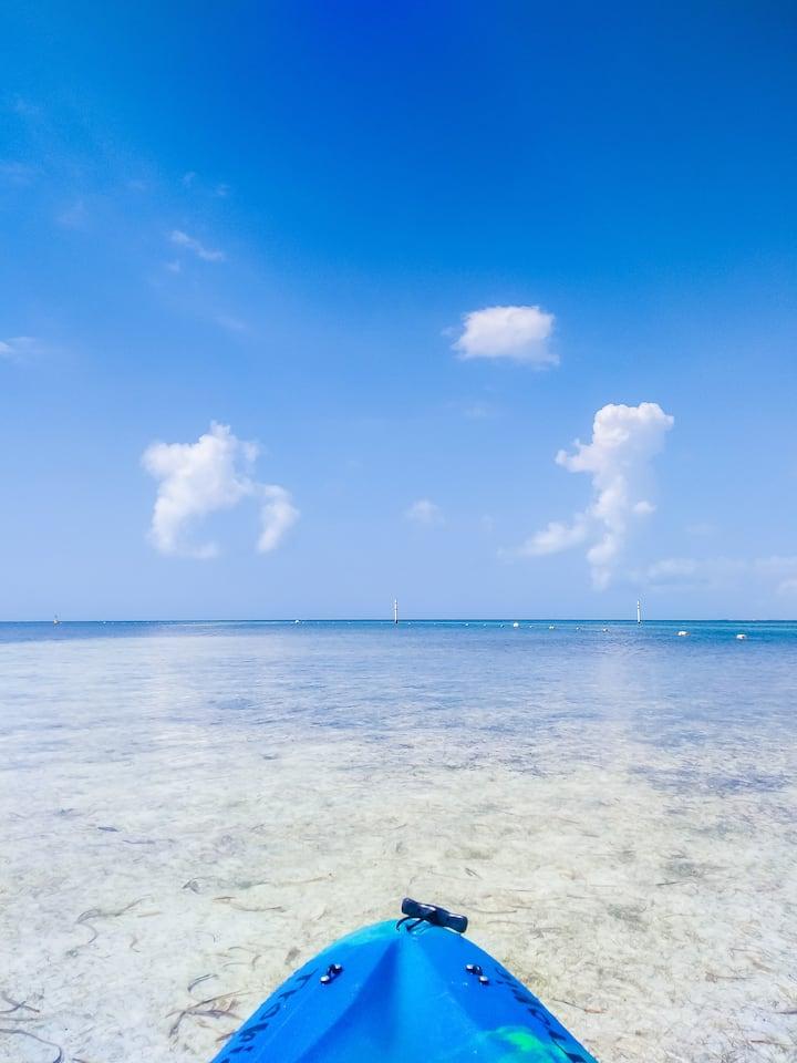 Kayaking into the open Sea