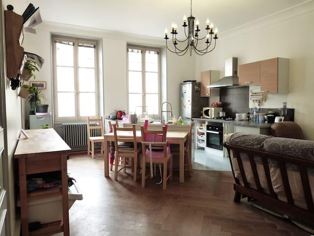 Grande pièce de vie + 3 chambres - Tullins - Apartment