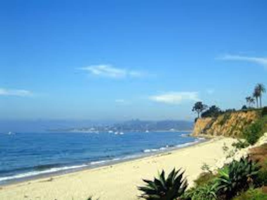 Butterfly Beach in front of the Biltmore is one of my favorite beaches.  It is walking distance from the Casita.