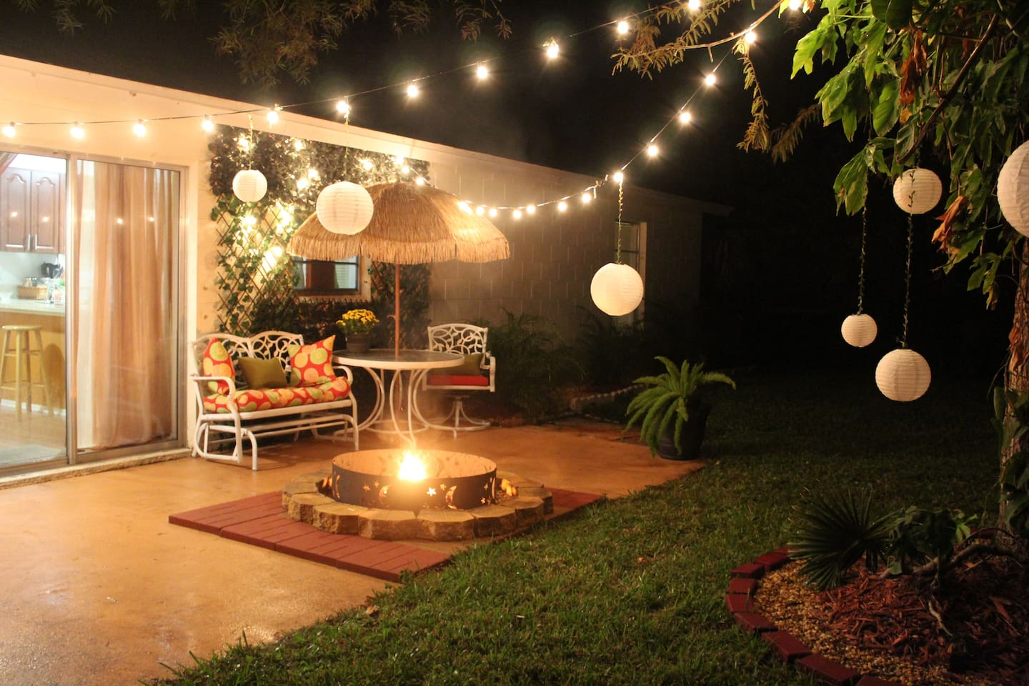 At the end of a day, find peace and serenity around the cozy fire pit