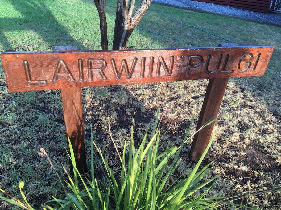 """The house name is in the dilect of the Ngarrindjeri people meaning """"Resting Place"""""""