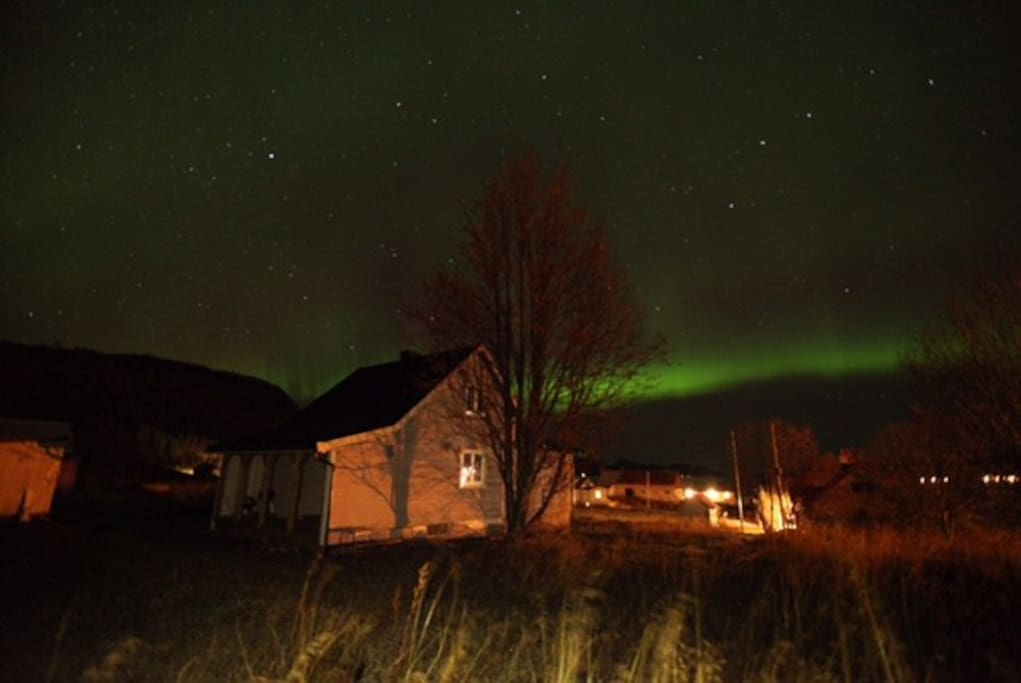 Northern light seen from our house. Taken October 2017.