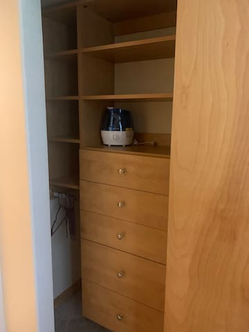 Closets in all the bedrooms have  plenty of storage space.
