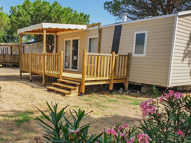 Mobil Home Neuf 4/6 pers Canet plage Mar Estang 4*
