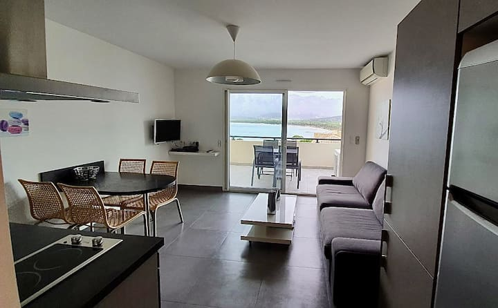 CALVI : Magnifique T2 avec vue  mer panoramique