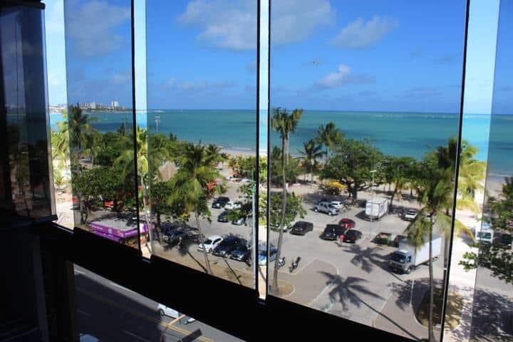 Apartamento beira-mar, vista paradisíaca