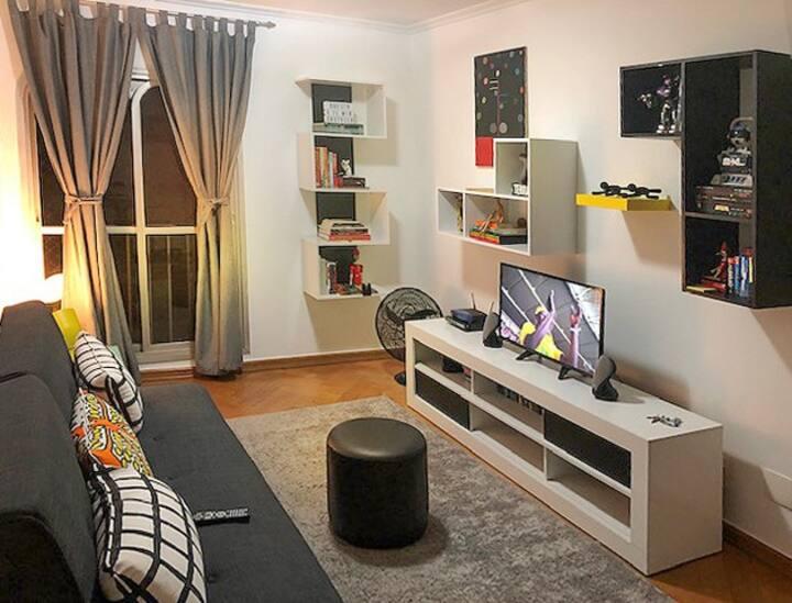 Apartamento moderno e elegante.