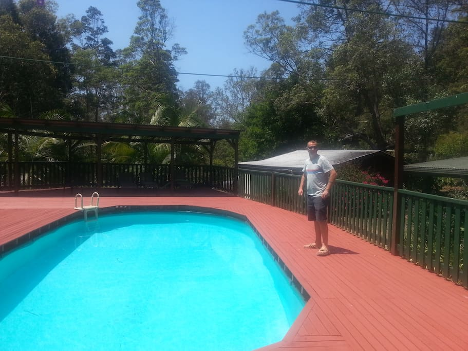 lush pool right next to the Studio