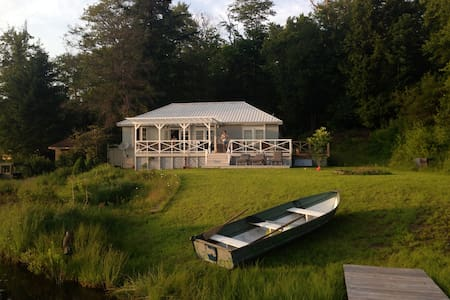 Catskills Modern Amber Lake Cottage - Livingston Manor - Rumah