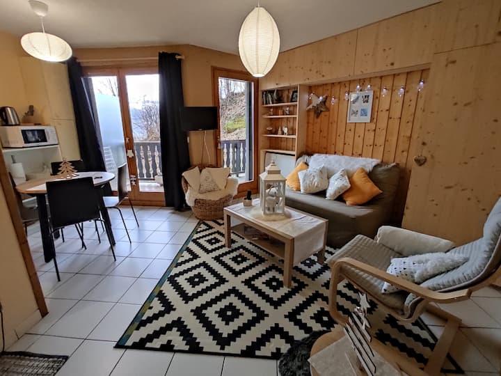 Appartement cosy calme au centre ville St gervais