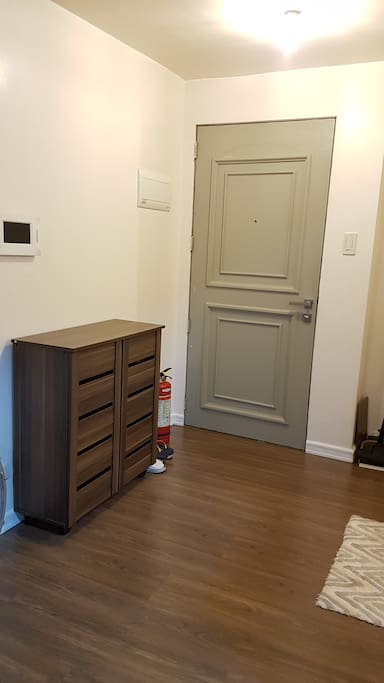 Shoe cabinet by the entrance/bathroom