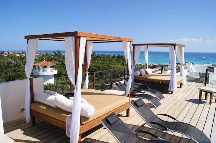Ocean View Rooftop Pool Luxurious Condo w/WiFi/Gym - Playa del Carmen - Condomínio