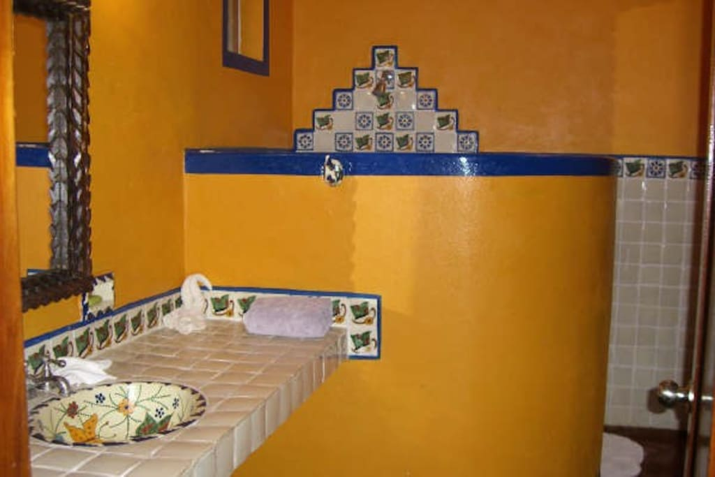 Beautiful mexican tiled bathrooms