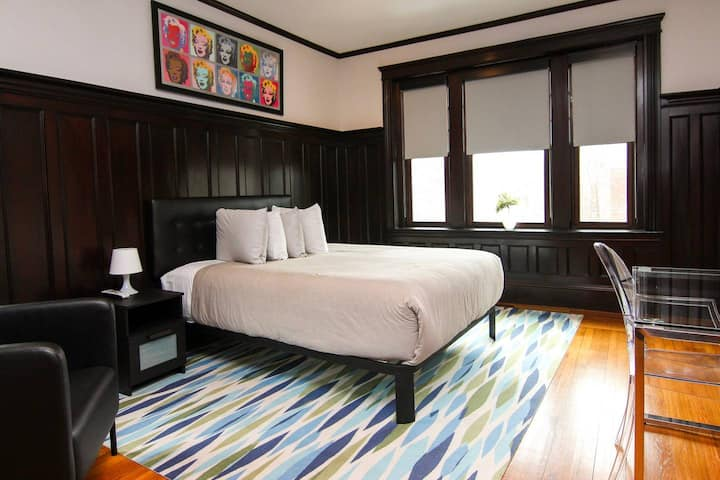 A Stylish Stay w/ a Queen Bed, Heated Floors; #17