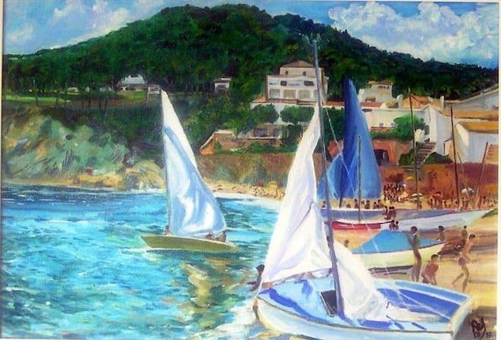 Sailing in Tamariu bay