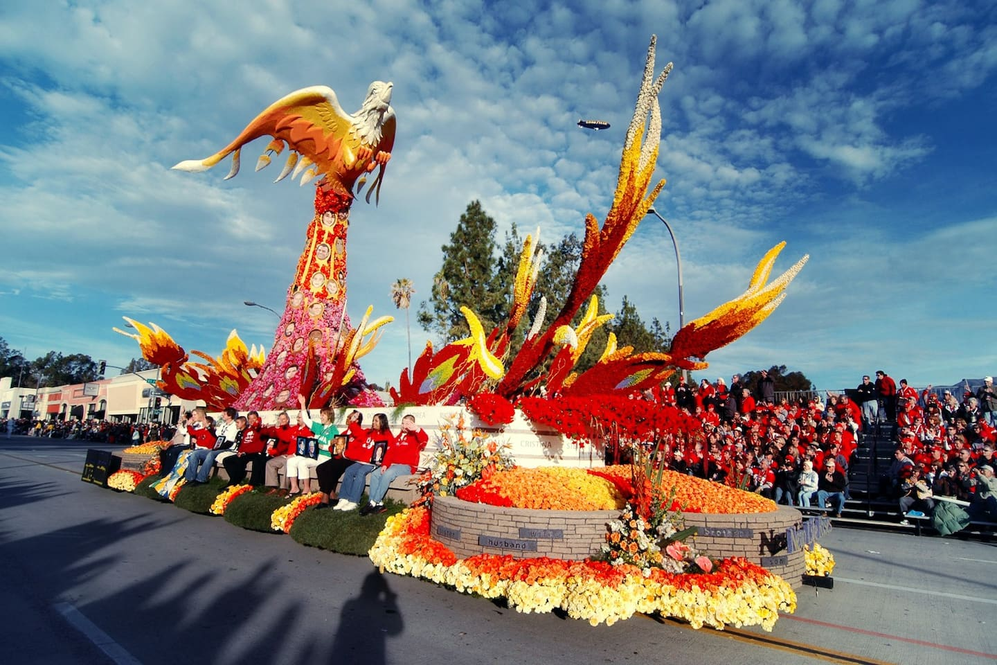 See the Rose Parade in walking distance from our house.