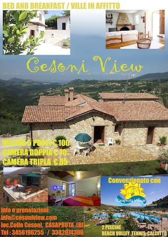 Cesoni View - Casaprota - Bed & Breakfast