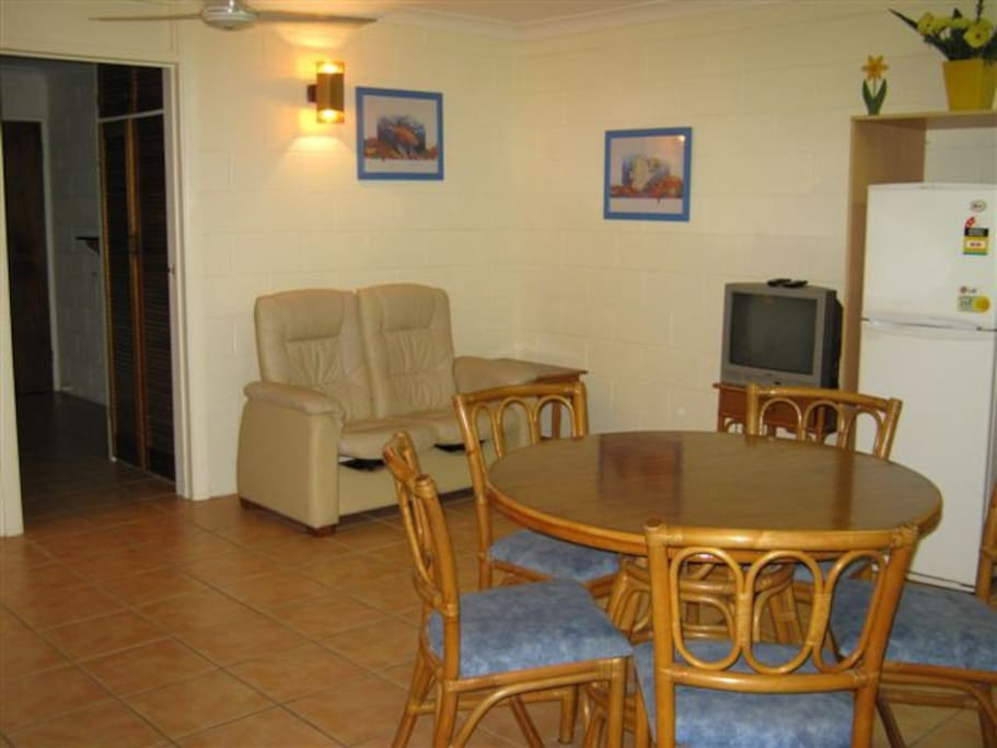 Unit 1 Dining and lounge area