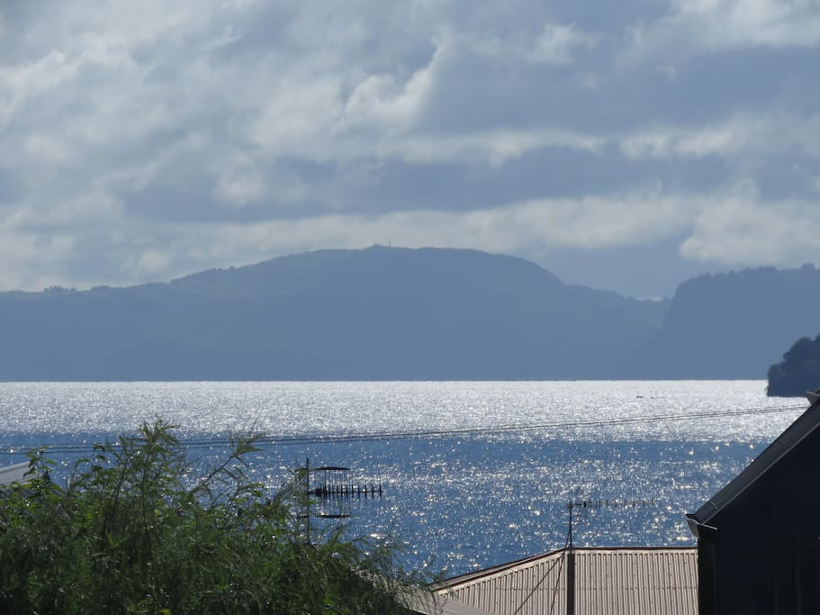 View of Lake Taupo from our Deck