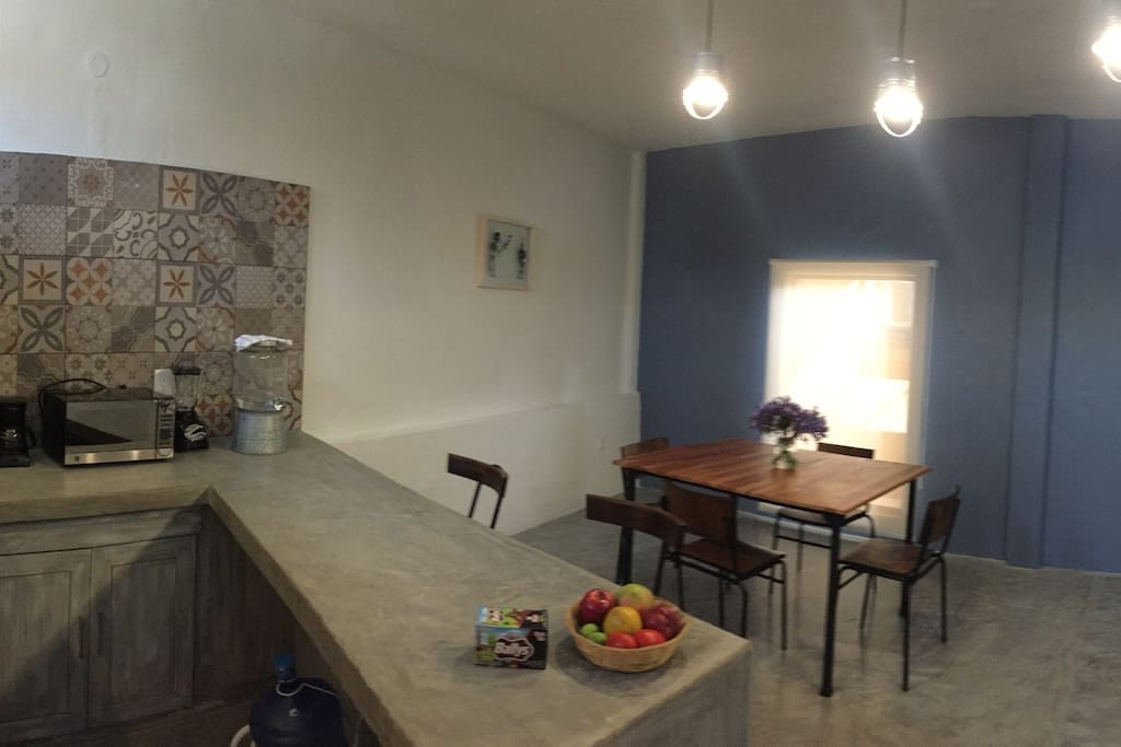 Central Xochimilco Serviced Apartment - Kitchen