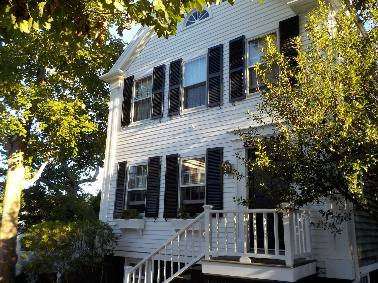 In the heart of Nantucket Town, historic street